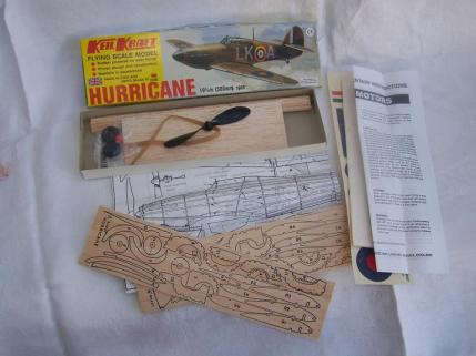 Keil Kraft Hawker Hurricane balsa wood kit