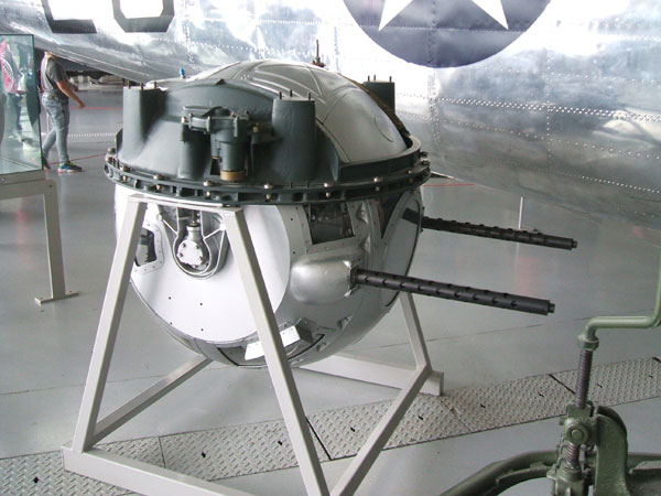 Ball turret of the B-17G.