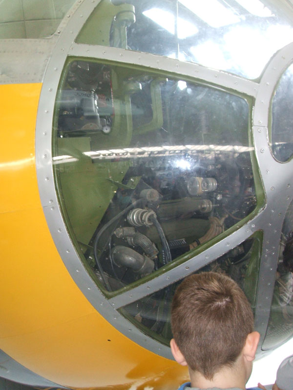 B-29 Starboard view of cockpit