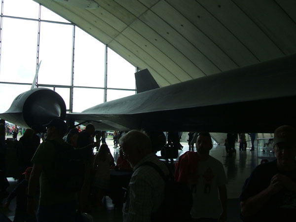 SR-71 fuselage; Elegant but menacing.