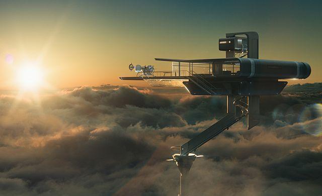 Oblivion movie still of the Sky Tower