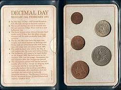 Decimalisation Day pack (this without 50p coin)