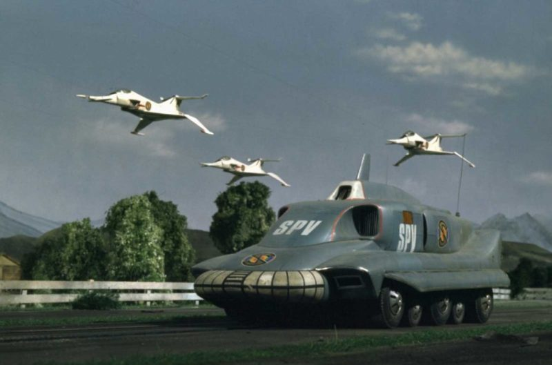 Captain Scarlet's SPV with Angel Interceptors