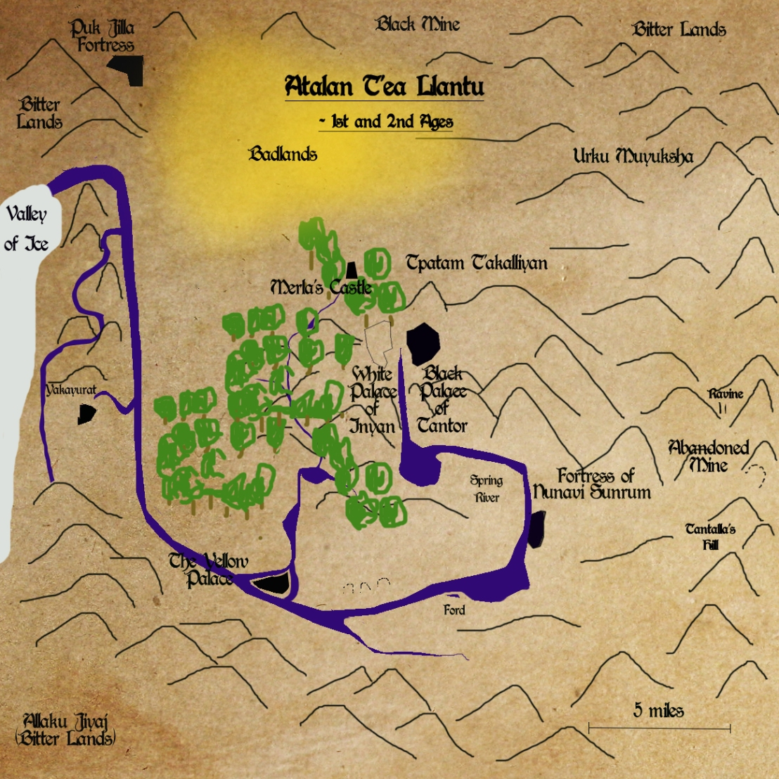 Map of Atalan T'ea in 1st and 2nd Ages