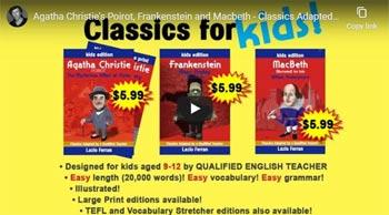 Agatha Christie, Frankenstein and Macbeth for Kids trailer on YouTube
