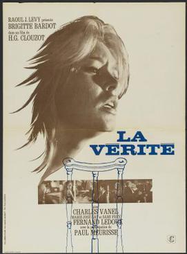 Poster for La Verite starring Bridgitte Bardot